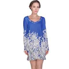 Crown Aesthetic Branches Hoarfrost Long Sleeve Nightdress