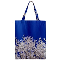 Crown Aesthetic Branches Hoarfrost Zipper Classic Tote Bag