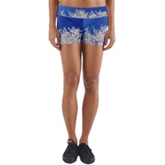 Crown Aesthetic Branches Hoarfrost Yoga Shorts