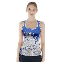 Crown Aesthetic Branches Hoarfrost Racer Back Sports Top by BangZart