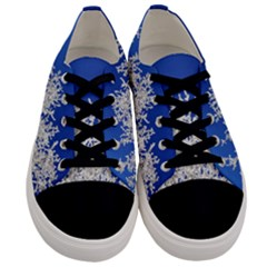 Crown Aesthetic Branches Hoarfrost Men s Low Top Canvas Sneakers