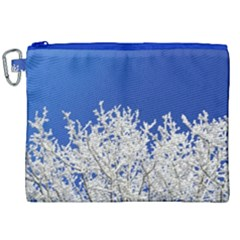 Crown Aesthetic Branches Hoarfrost Canvas Cosmetic Bag (xxl)