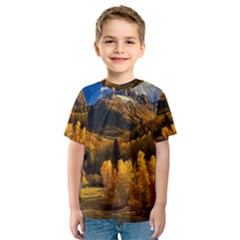 Colorado Fall Autumn Colorful Kids  Sport Mesh Tee