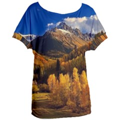 Colorado Fall Autumn Colorful Women s Oversized Tee