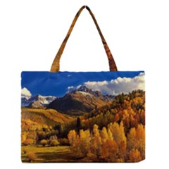 Colorado Fall Autumn Colorful Zipper Medium Tote Bag