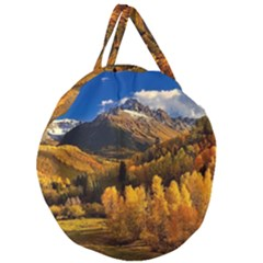 Colorado Fall Autumn Colorful Giant Round Zipper Tote