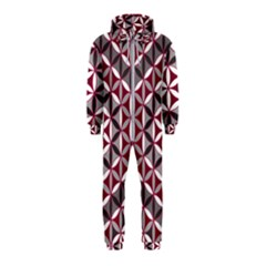 Flower Of Life Pattern Red Grey 01 Hooded Jumpsuit (kids)