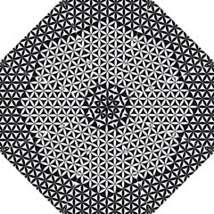 Flower Of Life Pattern Black White 1 Folding Umbrellas