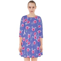 Roses And Roses Smock Dress
