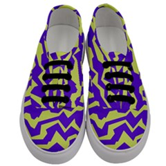 Polynoise Vibrant Royal Men s Classic Low Top Sneakers