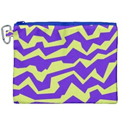 Polynoise Vibrant Royal Canvas Cosmetic Bag (xxl) by jumpercat