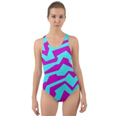 Polynoise Shock New Wave Cut Out Back One Piece Swimsuit