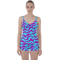 Polynoise Shock New Wave Tie Front Two Piece Tankini
