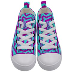 Polynoise Shock New Wave Kid s Mid Top Canvas Sneakers