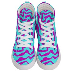 Polynoise Shock New Wave Women s Hi Top Skate Sneakers