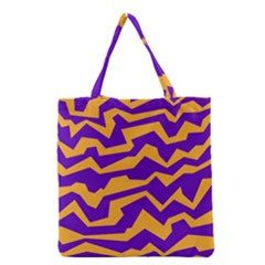Polynoise Pumpkin Grocery Tote Bag by jumpercat