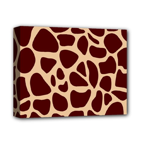 Animal Print Girraf Patterns Deluxe Canvas 14  X 11  by BangZart