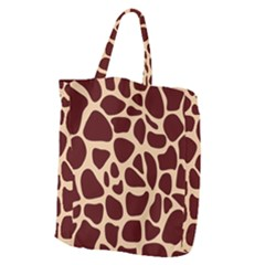 Animal Print Girraf Patterns Giant Grocery Zipper Tote