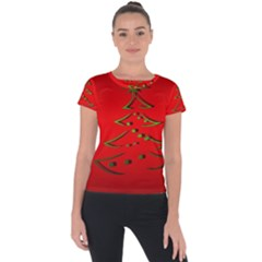 Christmas Short Sleeve Sports Top  by BangZart