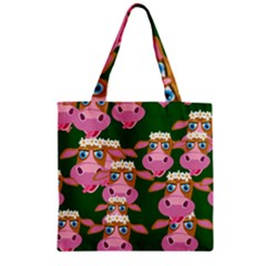 Seamless Tile Repeat Pattern Zipper Grocery Tote Bag