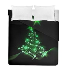 Christmas Tree Background Duvet Cover Double Side (full/ Double Size) by BangZart