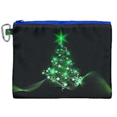 Christmas Tree Background Canvas Cosmetic Bag (xxl)
