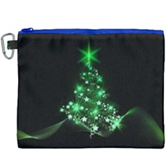Christmas Tree Background Canvas Cosmetic Bag (xxxl) by BangZart