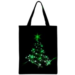 Christmas Tree Background Zipper Classic Tote Bag