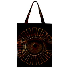 Eye Technology Zipper Classic Tote Bag by BangZart