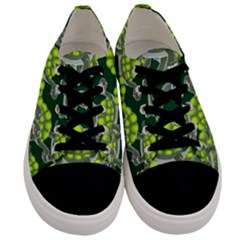 Seamless Tile Background Abstract Men s Low Top Canvas Sneakers