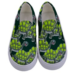 Seamless Tile Background Abstract Kids  Canvas Slip Ons