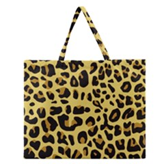 Animal Fur Skin Pattern Form Zipper Large Tote Bag