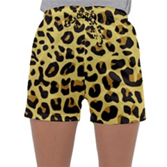 Animal Fur Skin Pattern Form Sleepwear Shorts