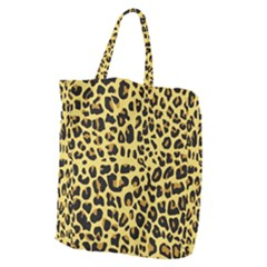 Animal Fur Skin Pattern Form Giant Grocery Zipper Tote