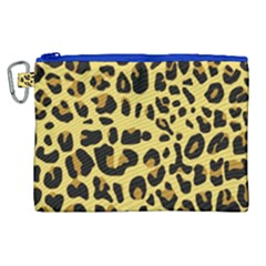 Animal Fur Skin Pattern Form Canvas Cosmetic Bag (xl)