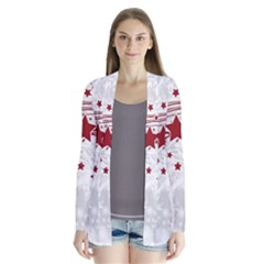Christmas Star Snowflake Drape Collar Cardigan by BangZart