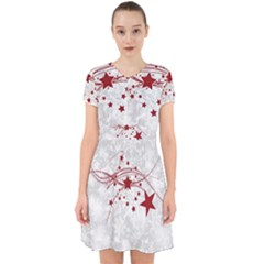 Christmas Star Snowflake Adorable In Chiffon Dress
