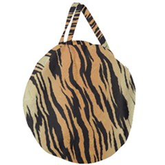Animal Tiger Seamless Pattern Texture Background Giant Round Zipper Tote