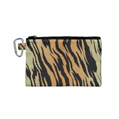 Animal Tiger Seamless Pattern Texture Background Canvas Cosmetic Bag (small)