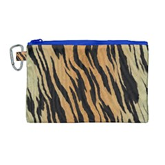 Animal Tiger Seamless Pattern Texture Background Canvas Cosmetic Bag (large)