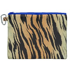 Animal Tiger Seamless Pattern Texture Background Canvas Cosmetic Bag (xxl)