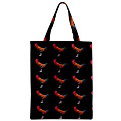 Background Pattern Chicken Fowl Zipper Classic Tote Bag