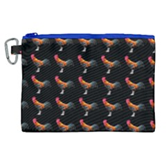 Background Pattern Chicken Fowl Canvas Cosmetic Bag (xl)