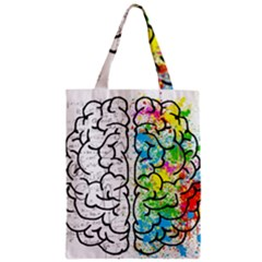 Brain Mind Psychology Idea Hearts Zipper Classic Tote Bag by BangZart