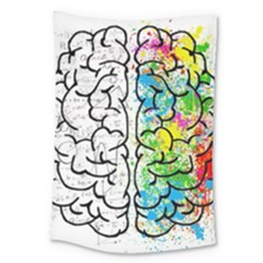 Brain Mind Psychology Idea Hearts Large Tapestry by BangZart
