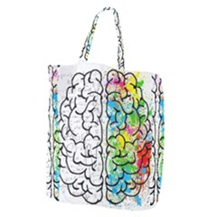 Brain Mind Psychology Idea Hearts Giant Grocery Zipper Tote