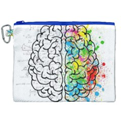 Brain Mind Psychology Idea Hearts Canvas Cosmetic Bag (xxl) by BangZart