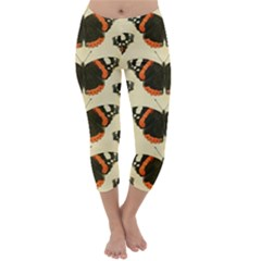 Butterfly Butterflies Insects Capri Winter Leggings
