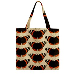 Butterfly Butterflies Insects Zipper Grocery Tote Bag by BangZart