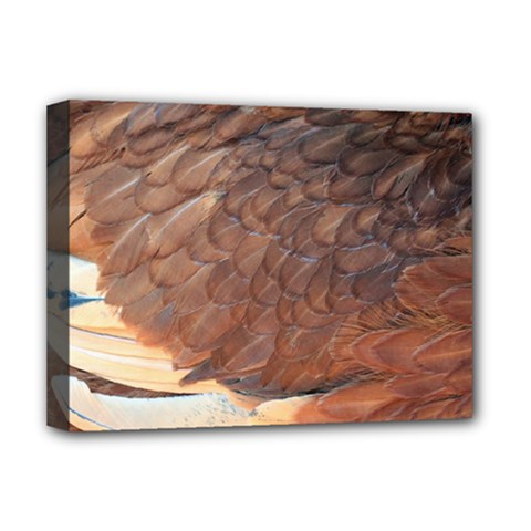 Feather Chicken Close Up Red Deluxe Canvas 16  X 12   by BangZart